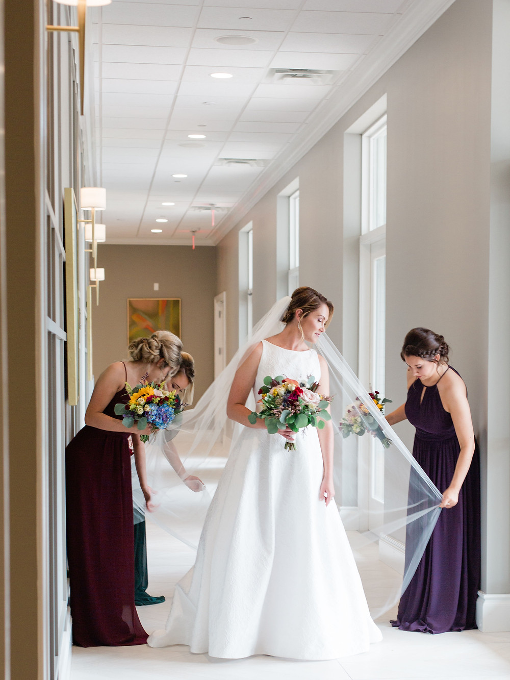 bride and bridesmaids at Water's Edge in St. Charles, MO