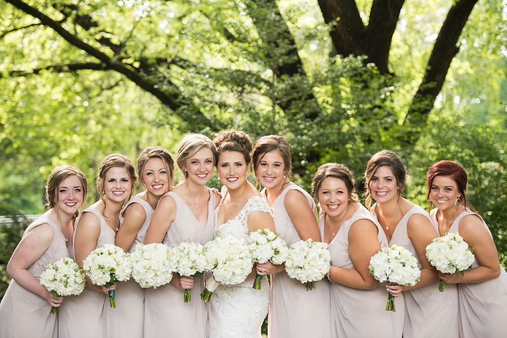 Allure Couture Wedding Dress hayley paige bridesmaid