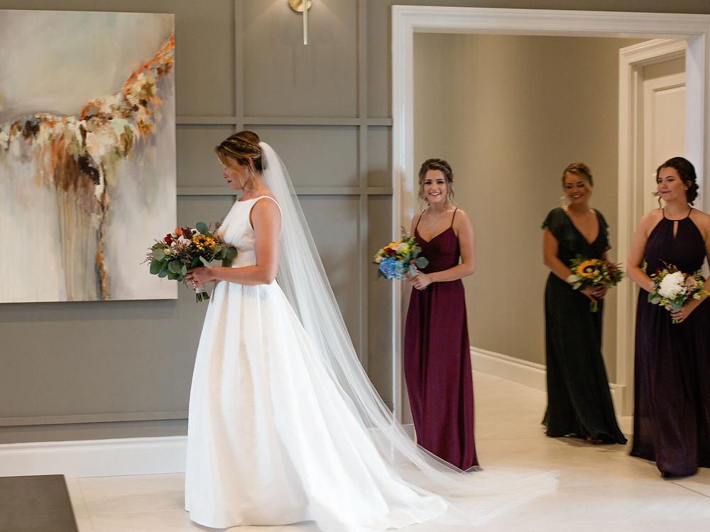 Bridesmaids at Wedding at Water's Edge in St. Charles, MO