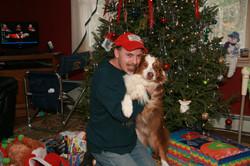 Dad and Rojo Christmas 2010