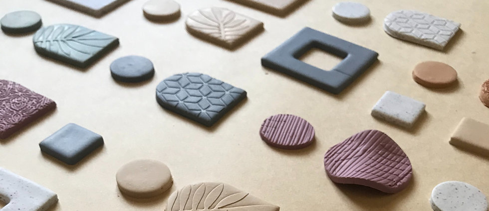 Kensington creative spring collection polymer clay earrings
