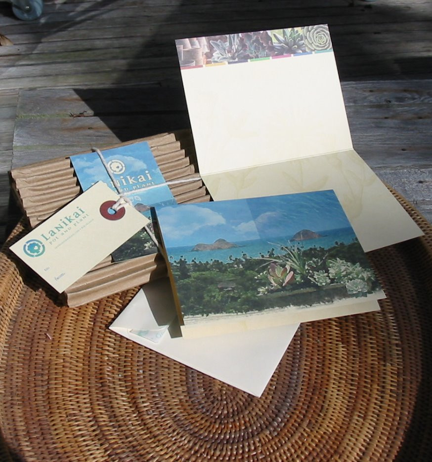 Lanikai Pot and Plant Notecards
