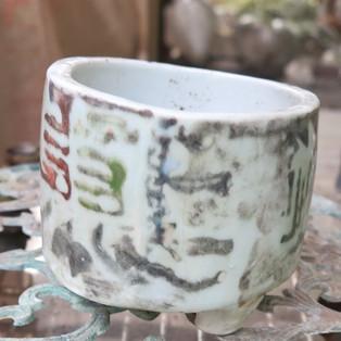 Painted Circular Pot