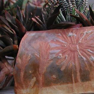 Stoneware with Celadon Wall Pot Detail