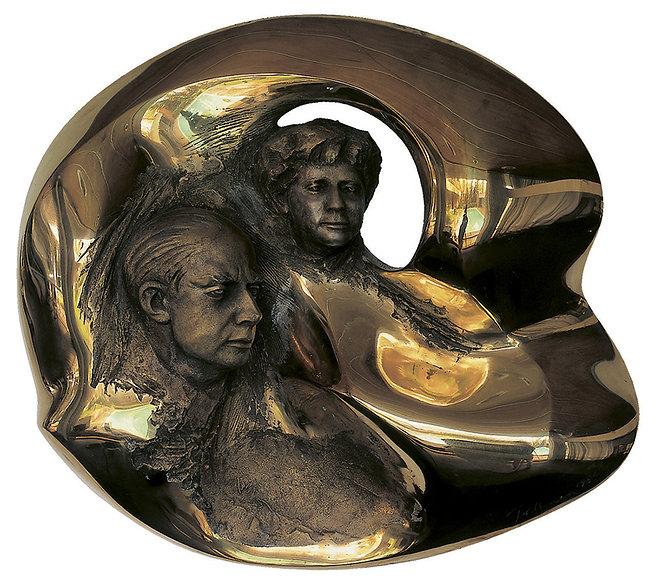 Laila Pullinen: Marie-Louise & Gunnar Didrichsen, sculpture