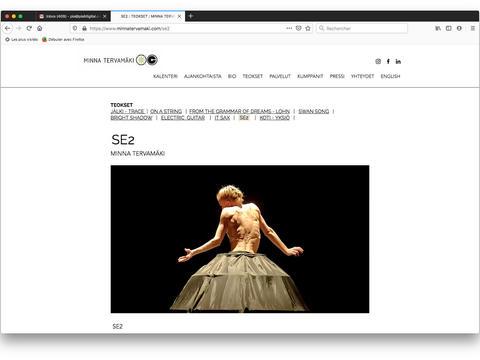 SE2: Choreography page / Teossivu / Page Choréographie