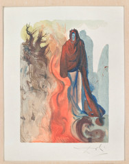 Salvador Dalí: Divina comedia No 34, L´apparition du diable