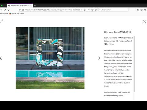 Page d'oeuvres d'art, Sculture Park, Eero Hiironen