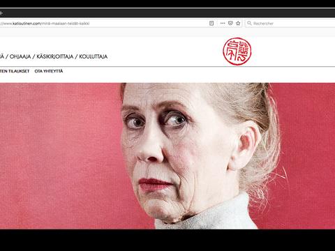 """Jouer sur l'artiste Helene Scherfbeck """"Minä Maalaan teidät kaikki"""" """"Je vais vous peindre tous"""""""
