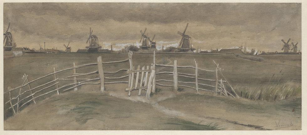 Vincent_van_Gogh_Tuulimyllyjjä_Dordrec