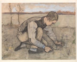 Vincent van Gogh: Poika ja sirppi, Pojke med skära, Boy with a sickle 1881