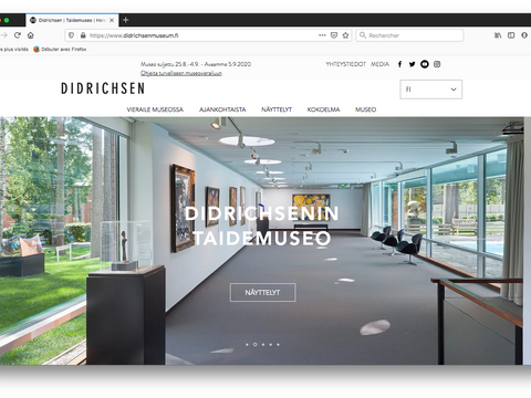 The Museums home page