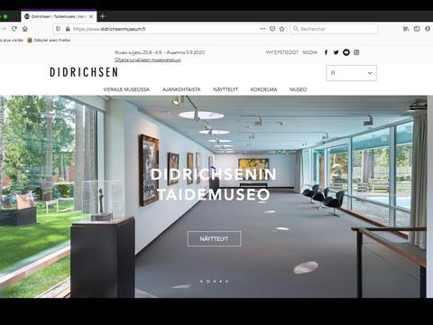 La page d'accueil des musées