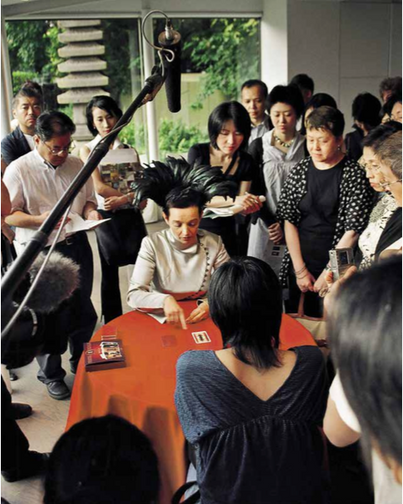 Press conference of the Marita Liulia Tarot exhibition, The Hara Museum, Tokyo, 2004