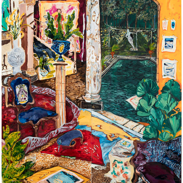 "Karoliina Hellberg, detail of the painting ""Ingrid / Incu"" Photo: Jussi Tiainen"