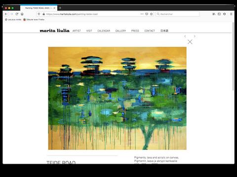 Peinture / Maalaus teossivu / Oeuvre