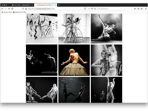 Choreographies page / Teokset sivu / Page Choréograhies