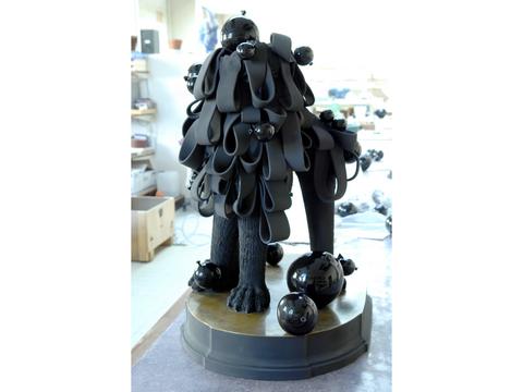 """""""Souffle a go go"""" - Monumental Sèvres ceramic sculpture - Sculpture monumentale en céramique de Sèvres"""