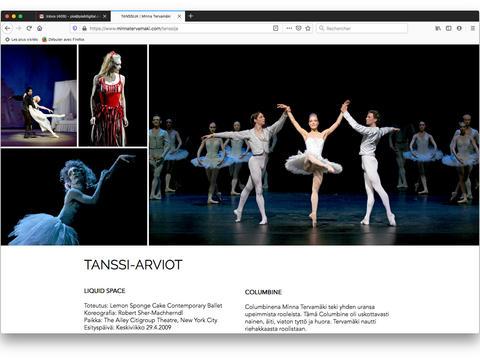 Roles in Classical Ballets / Rooleja klassinen baletti / Ballet classique, roles