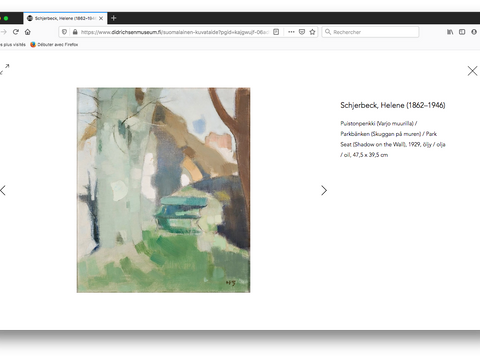 Page d'oeuvre, Helene Schjerfbeck, paysage