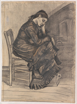 Vincent van Gogh: Istuva nainen / Sittande kvinna / Woman seated, 1882