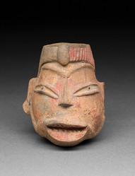 Päänmuotoinen astia / Kärl i form av ett huvud / Head-effigy vessel