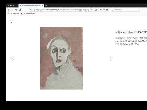 Page d'œuvres d'art, Helene Schjerfbeck, autoportrait