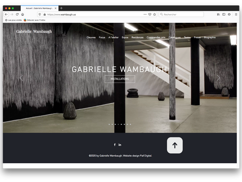 Installation view - Homepage / Etusivu / Accueil