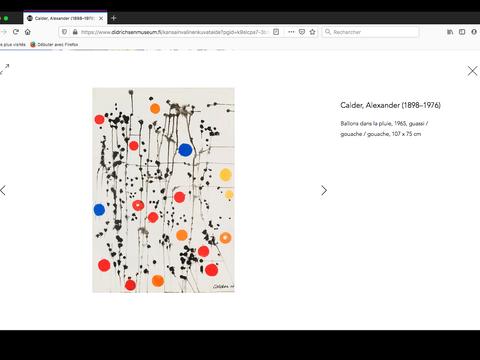 Page d'oeuvre d'art, Alexander Calder