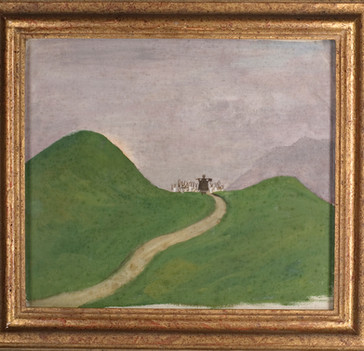 Hugo Simberg: Paimen vuoristossa / Herde bland bergen  / Shepherd in the mountains
