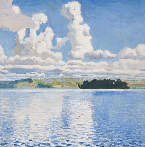 Akseli Gallen-Kallela: Pilvitornit, maalaus vuodelta 1904.