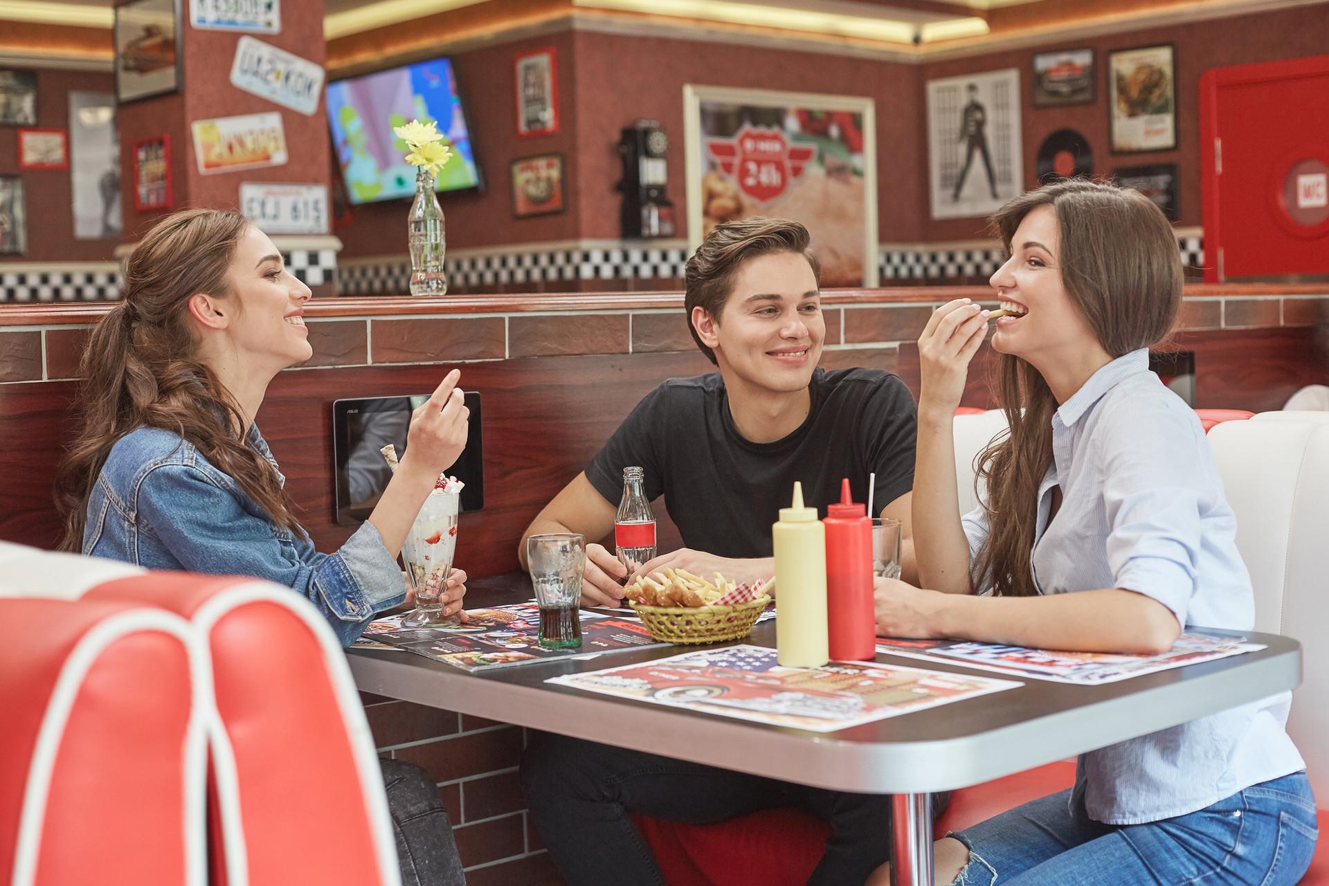 Eating at Diner
