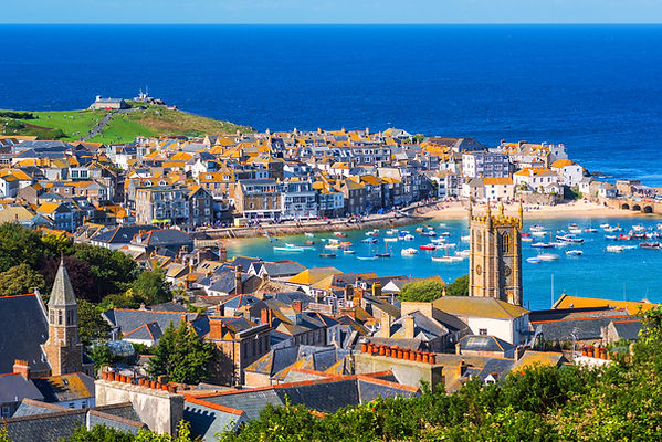 Picturesque St Ives, a popular seaside t