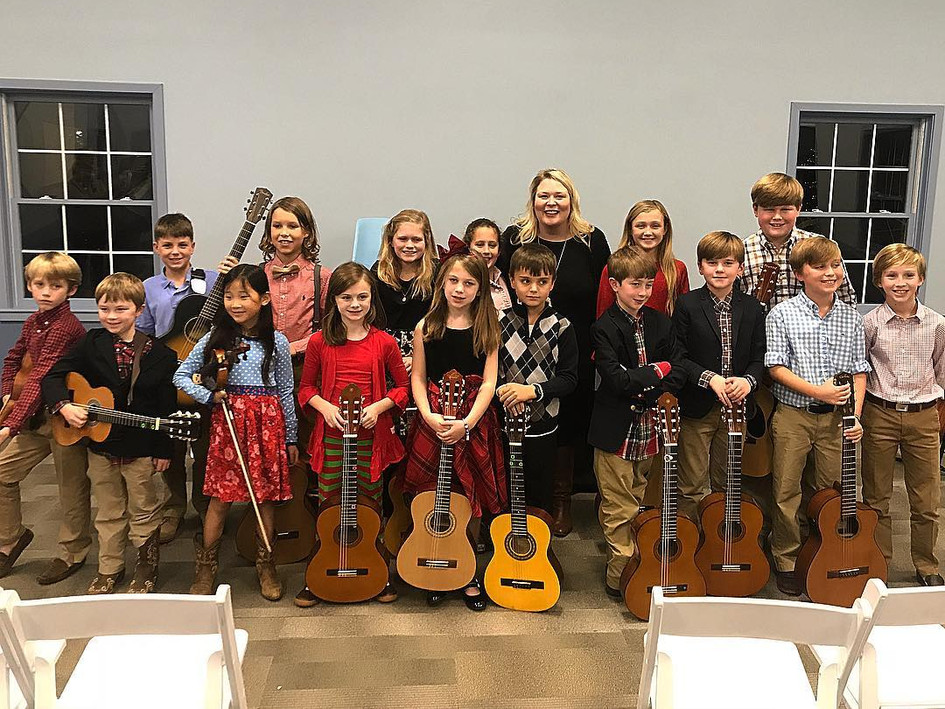 CMA students participating in the 2018 Spring Recital at Brookstone School