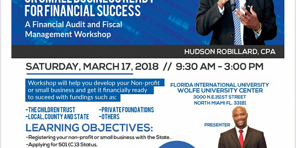 Non-Profit and Small Business Financial Workshop