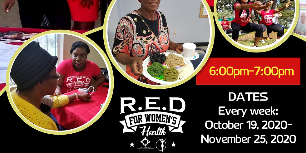 RED Women's Health 6 Weeks Health & Wellness Sessions