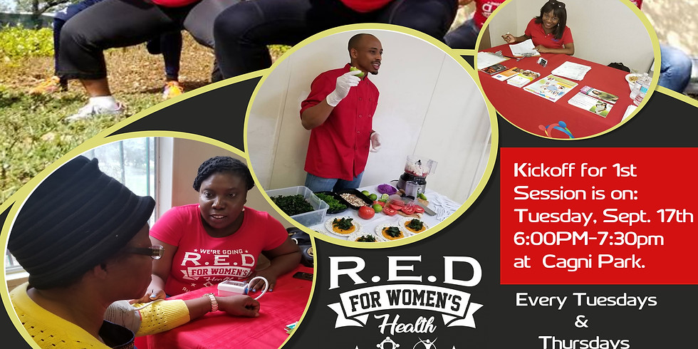 R.E.D For Women's Health 8 Weeks Fitness Session