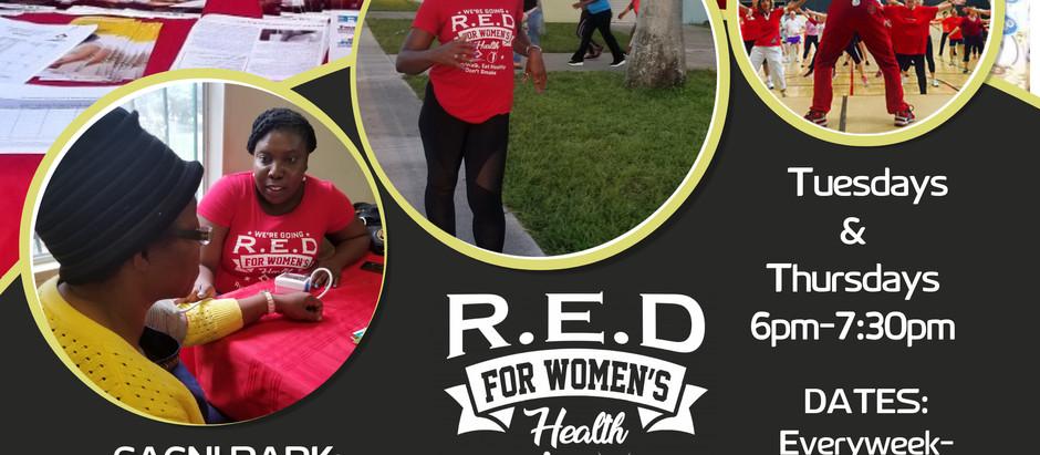 Free R.E.D for Women's Health Launch at Cagni Park, North Miami