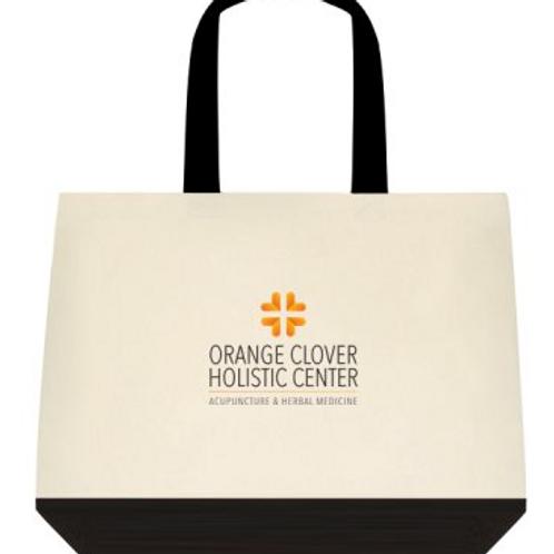 Orange Clover Cotton Tote Bag