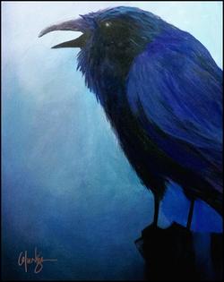 Raven on Pole