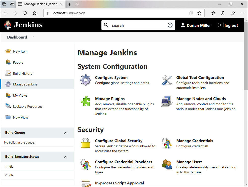 Manage Jenkins page