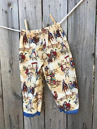 Cowpokes print, pull-on pants