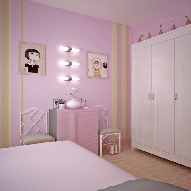 Girls bedroom -- TV Show Belgium