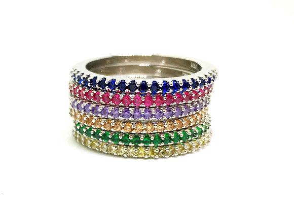 טבעת אבנים צבעוניות