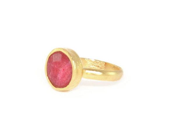 טבעת זהב פוקסיה