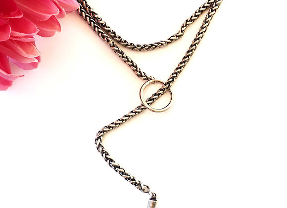 Blackened Silver Chain Necklace