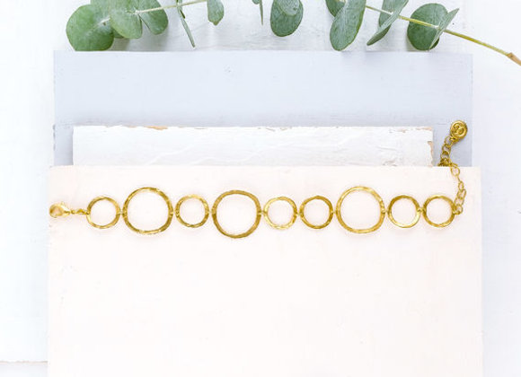 Circles Gold Bracelet