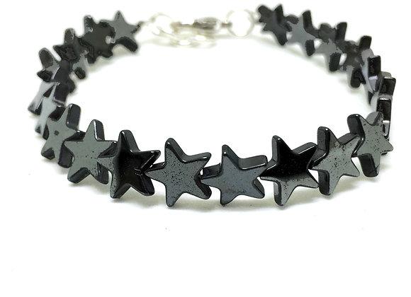 צמיד כוכבים שחור