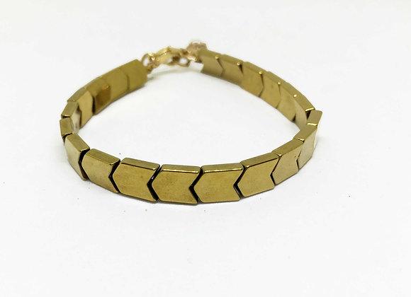 Hematite Gold Arrow Bracelet