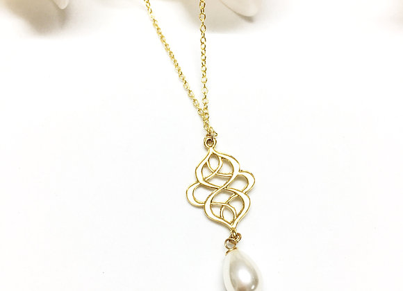 Gold Chinese Knot Necklace